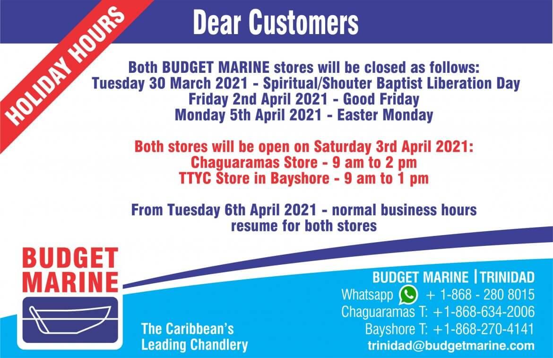 Budget Marine Trinidad - TTYC 22