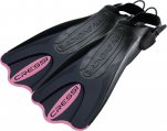 Fins, Open Heel Adjustable Size Extra Small S Black/Pink