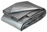 Tarpaulin, 12 x 16′ Heavy Duty Polyester Silver Black