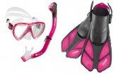 Mask/Snorkel/Fins, Set Bonete Pink Large/Extra Large