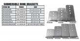 Bracket Kit, for Submersible Bunk Height:10″ Width 4-7/8″ Aluminum 2 Pack