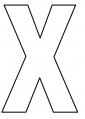 Letter, X Vinyl Adhesive 3″ White