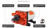 Pressure Pump, 12V 5.0GpM 55PSI Washdown 42 Series